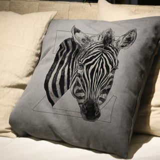 [Z] ebra Zebra: hand-painted letters pillow