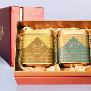 Red gold gift box | two into loose tea cans - + Alishan mountain tea Lishan Oolong Tea Gift] [HERDOR