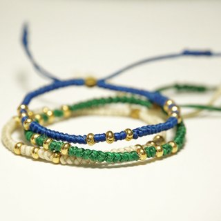 ITS-843 [Weaving Series / Wax Line C] Lucky Bracelet. 20 colors optional.