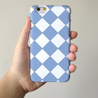 Diamond Blue Pattern 3D Full Wrap Phone Case, available for  iPhone 7, iPhone 7 Plus, iPhone 6s, iPhone 6s Plus, iPhone 5/5s, iPhone 5c, iPhone 4/4s, Samsung Galaxy S7, S7 Edge, S6 Edge Plus, S6, S6 Edge, S5 S4 S3  Samsung Galaxy Note 5, Note 4, Note 3,  N