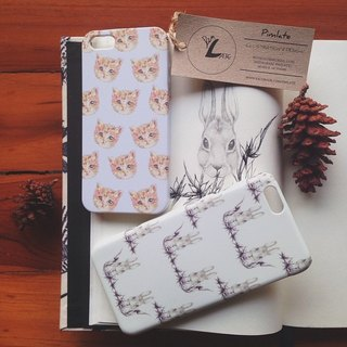 Rabbit & Cat iphone case