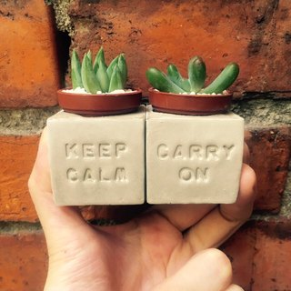 Keep Calm & Carry on keeping cool stick pot magnet group