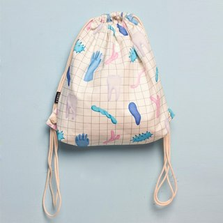 | 047 | 8md X Toner 文藝復古 原創設計 抽繩包 retro shoulder bag 方格百搭 drawstring backpack