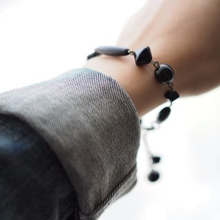 Bracelet手鏈: Miss Elyse Collection Bracelet (Jet黑色) - B040