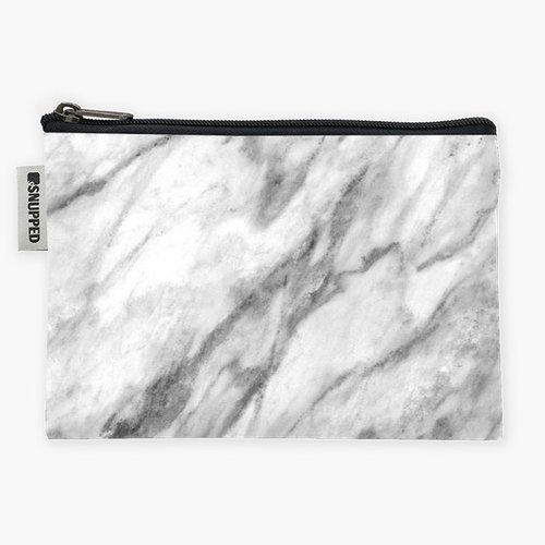 Snupped Zipper - Accessories Pouch - Makrana Marble