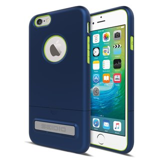 Fashionable Two-tone Cover / Case for iPhone 6 (s) / 6 (s) Plus - Gentleman Blue (Blue Green) -SURFACE ™ Collection