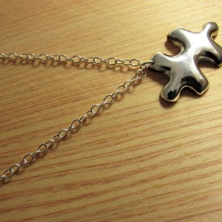 Mittag【NL325】puzzle jigsaw designer handmade silver necklace - with brand wood jewelry box, silver polishing cloth...