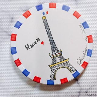 [Customized] painted Eiffel Tower absorbent coasters
