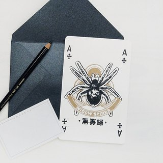 Series of Poker - A / Black Widow - Cards / Postcards