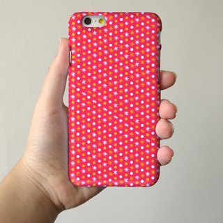 Flakes fancy pink polka dots 3D Full Wrap Phone Case, available for  iPhone 7, iPhone 7 Plus, iPhone 6s, iPhone 6s Plus, iPhone 5/5s, iPhone 5c, iPhone 4/4s, Samsung Galaxy S7, S7 Edge, S6 Edge Plus, S6, S6 Edge, S5 S4 S3  Samsung Galaxy Note 5, Note 4, No