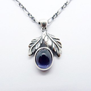 Classical Series 6 --- 925 sterling silver amethyst necklace egg noodles