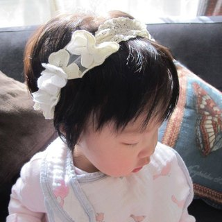 Lace flowers - baby hair bands