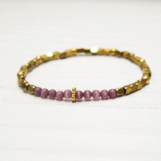 Purple Opal Brass Bracelet (05) - Mask