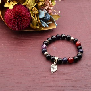 Rebirth | Black Onyx Red Chalcedony Amethyst Natural Stone Bracelet