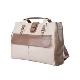 Amore Stark Light Business Travel Briefcase - Horizontal Grey