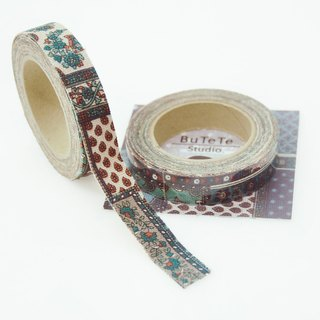 Cloth tape - retro [mixed classical green plaid]