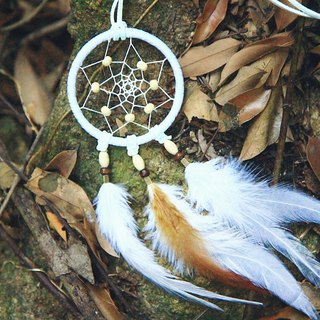ESCA • DreamCatcher handmade Dreamcatcher - necklace (white)