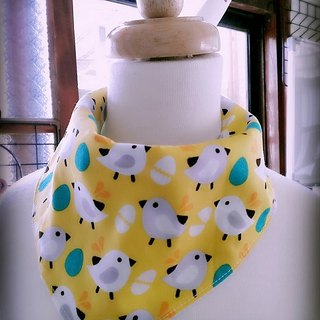 Meng Meng chick triangle scarf / bibs