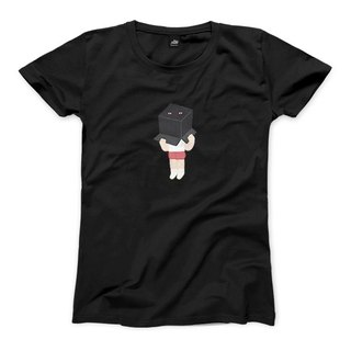 Black box day and night - black - female version of T-shirt
