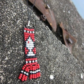 Beads Creation - white fish Charm