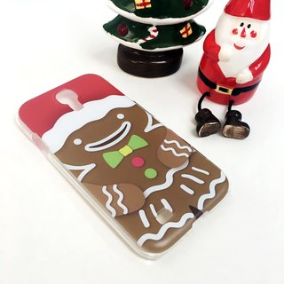 Christmas Series - Brown GingerBread Print Soft / Hard Case for iPhone X,  iPhone 8,  iPhone 8 Plus, iPhone 7 case, iPhone 7 Plus case, iPhone 6/6S, iPhone 6/6S Plus, Samsung Galaxy Note 7 case, Note 5 case, S7 Edge case, S7 case