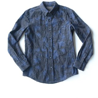 Machismo- three-dimensional woven camouflage shirt / blue