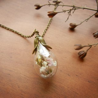 *coucoubird*flower cover glass ball necklace - bronze Rustic Style