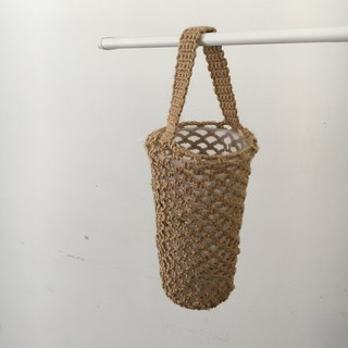 Bottled woven mesh bag