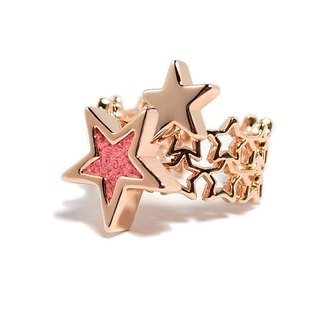 Hand Rose gold meteor ring, hand-made jewelry pink star ring / Hand Rings