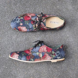 He loves flowers handmade shoes Germany - classic love flower cloth