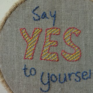 "CaCa Crafts | handmade embroidery Say ""YES"" to Yourself ornaments"