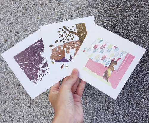 Postcards - wind, cool (3 Pack)