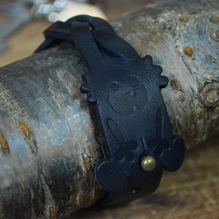 【Peej】'Outie' Leather Bracelet / Blue