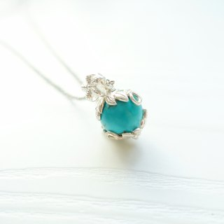 BLOSSOM -  Limited Turquoise Silver Floral Pendant