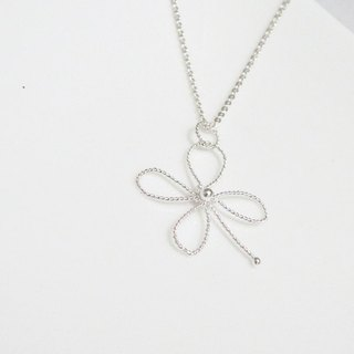 Silver necklace / small lucky