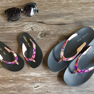 """Baby Day"" texture wind flops (Women subsection) quiet purple slippers paternity shoes"