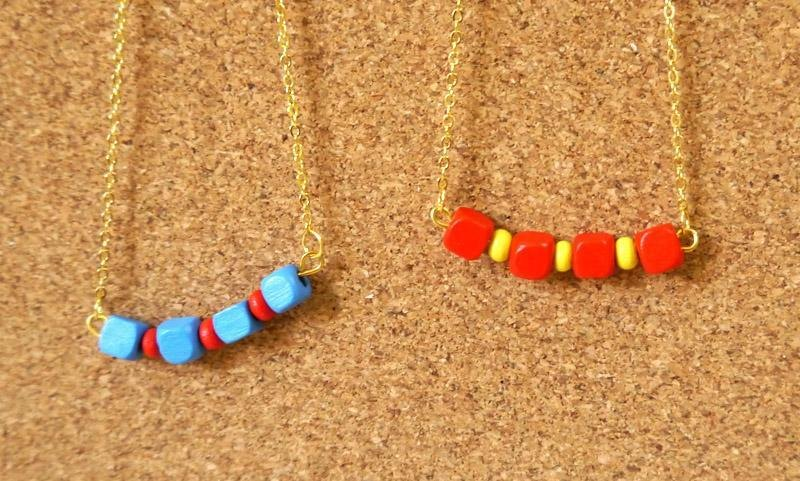 Light you up playful color wood bead necklace