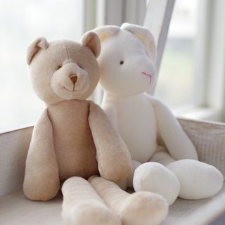 [My little star] handmade organic cotton bear one / two hand organic cotton rabbit