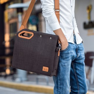 Square Clutch Briefcase Lightweight Personality Design Fashionista - Brown
