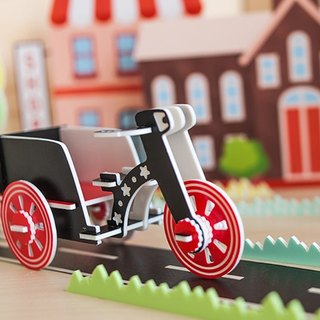 【Puzzle three-dimensional puzzle】 transport series / / running tricycle