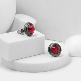 Gem Earrings (Red)