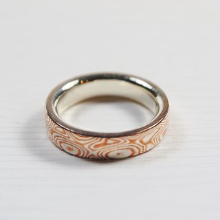 Element 47 Jewelry studio~ mokume gane ring  31  (silver/copper)