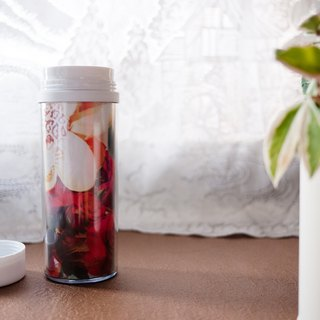 <Wandering horizon @ picture> image creation portable bottle. Heart flower