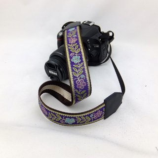 Camera strap can print personalized custom leather stitching national wind embroidery pattern 033