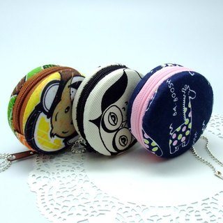 6.5cm Macaron / jewelry pouch / Macaron coin purse / ear phone case - 3 options