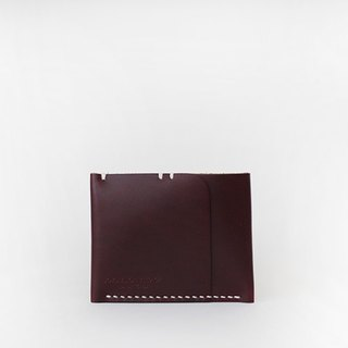 Leather-shop vintage card wallet