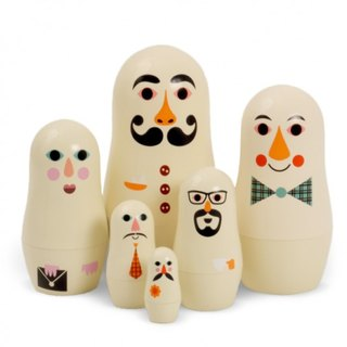 Swedish OMM X Ingela mini Russian dolls - People