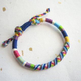 Denim segmented winding round rope lucky rope woven bracelet (optional color)