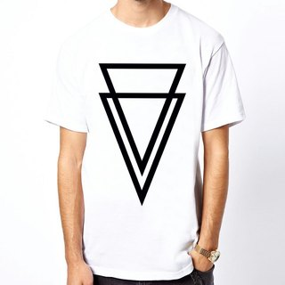 Double Triangle T-shirt -2 color triangle geometric fashion design cheap own brand