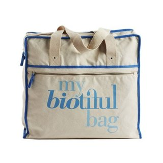 法國my biotiful bag有機棉Weekend Bag-Blue